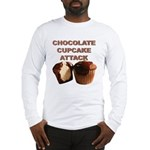 Chocolate Cupcake Attack Long Sleeve T-Shirt