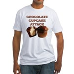 Chocolate Cupcake Attack Fitted T-Shirt