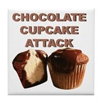 Chocolate Cupcake Attack Tile Coaster