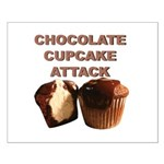 Chocolate Cupcake Attack Small Poster