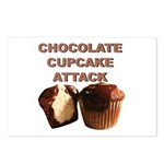 Chocolate Cupcake Attack Postcards (Package of 8)