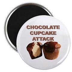 Chocolate Cupcake Attack Magnet