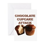 Chocolate Cupcake Attack Greeting Cards (Pk of 20)