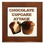 Chocolate Cupcake Attack Framed Tile