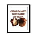 Chocolate Cupcake Attack Framed Panel Print