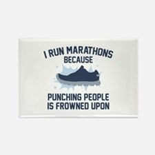 I Run Marathons Rectangle Magnet