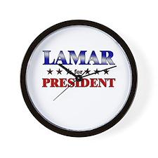 LAMAR for president Wall Clock
