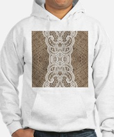 country rustic burlap lace Jumper Hoody