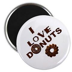 I Love Donuts Magnet