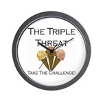 Triple Threat Take the Challe Wall Clock