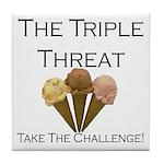 Triple Threat Take the Challe Tile Coaster