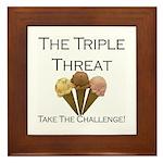 Triple Threat Take the Challe Framed Tile