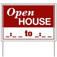 OPEN HOUSE (Write in Time) Yard Sign