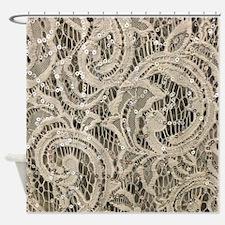 Cute Glamorous Shower Curtain