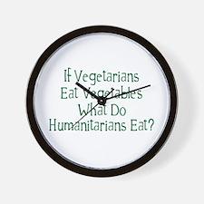 What Do Humanitarians Eat? Wall Clock