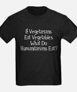 What Do Humanitarians Eat? T