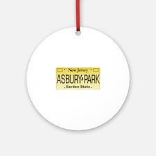 Asbury Park NJ Tag Giftware Round Ornament