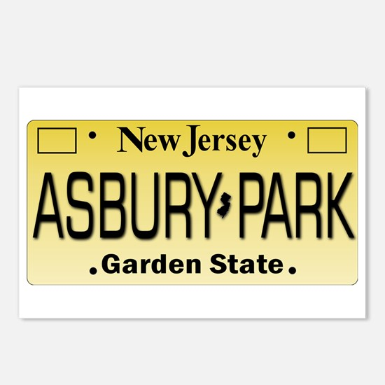 Asbury Park NJ Tag Giftwa Postcards (Package of 8)