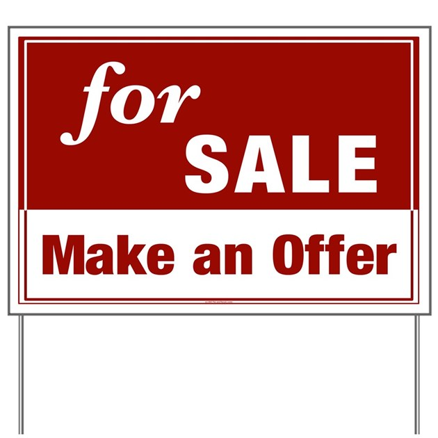 For Sale Make An Offer Yard Sign By Houseblvd