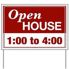 OPEN HOUSE (1 to 4) Yard Sign