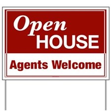 OPEN HOUSE (Agents Welcome) Yard Sign