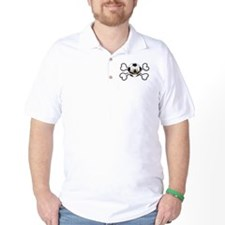 Angry Soccer Ball Crossbones T-Shirt