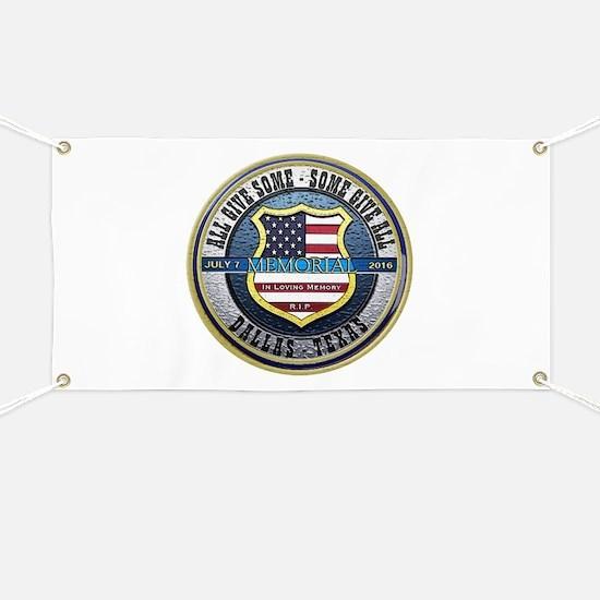 Memorial Dallas Police Thin Blue Line Banner