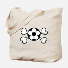 Soccer Ball Crossbones Design Tote Bag