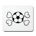 Soccer Ball Crossbones Design Mousepad