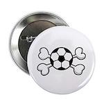 Soccer Ball Crossbones Design 2.25