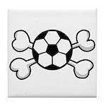 Soccer Ball Crossbones Design Tile Coaster