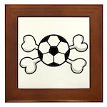Soccer Ball Crossbones Design Framed Tile