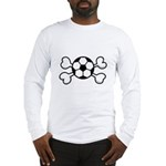 Soccer Ball Crossbones Design Long Sleeve T-Shirt