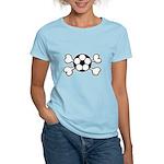 Soccer Ball Crossbones Design Women's Light T-Shir