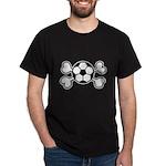 Soccer Ball Crossbones Design Dark T-Shirt
