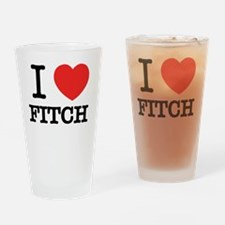 Cute Fitch Drinking Glass