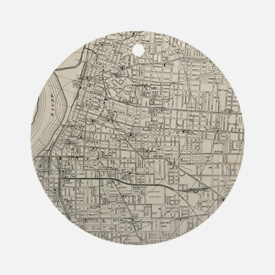 Cute Memphis tennessee Round Ornament