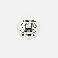 So Obsolete It Hurts (Floppy Disk) Mini Button (10
