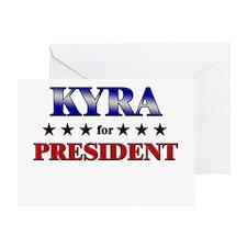 KYRA for president Greeting Card
