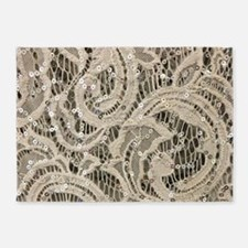 Girly sequins lace bohemian 5'x7'Area Rug