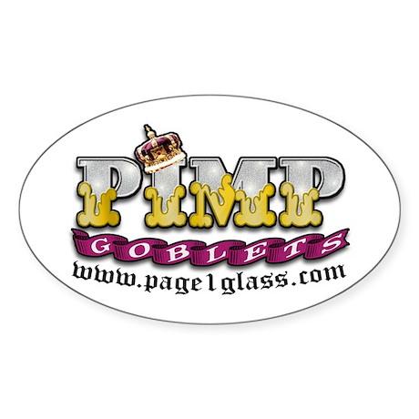 Pimp Goblet Oval Sticker