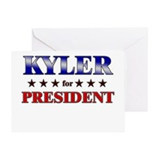 KYLER for president Greeting Card