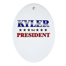 KYLER for president Oval Ornament