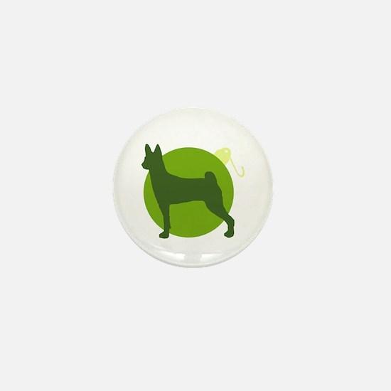 Basenji Ornament Mini Button