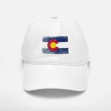Colorado State Flag Grunge Baseball Baseball Cap