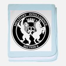 MI6 Logo baby blanket