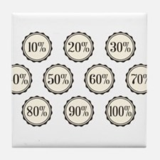 Percentage Off Buttons Tile Coaster