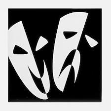 Stage Masks Tile Coaster