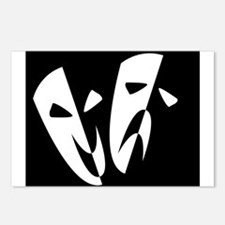 Stage Masks Postcards (Package of 8)