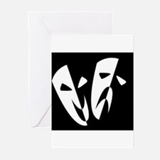 Stage Masks Greeting Cards